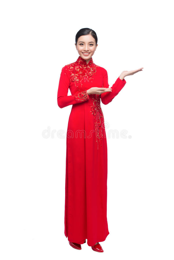 Portrait of a beautiful Asian woman on traditional festival cost stock photos