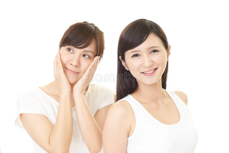 Smiling Asian women royalty free stock photography