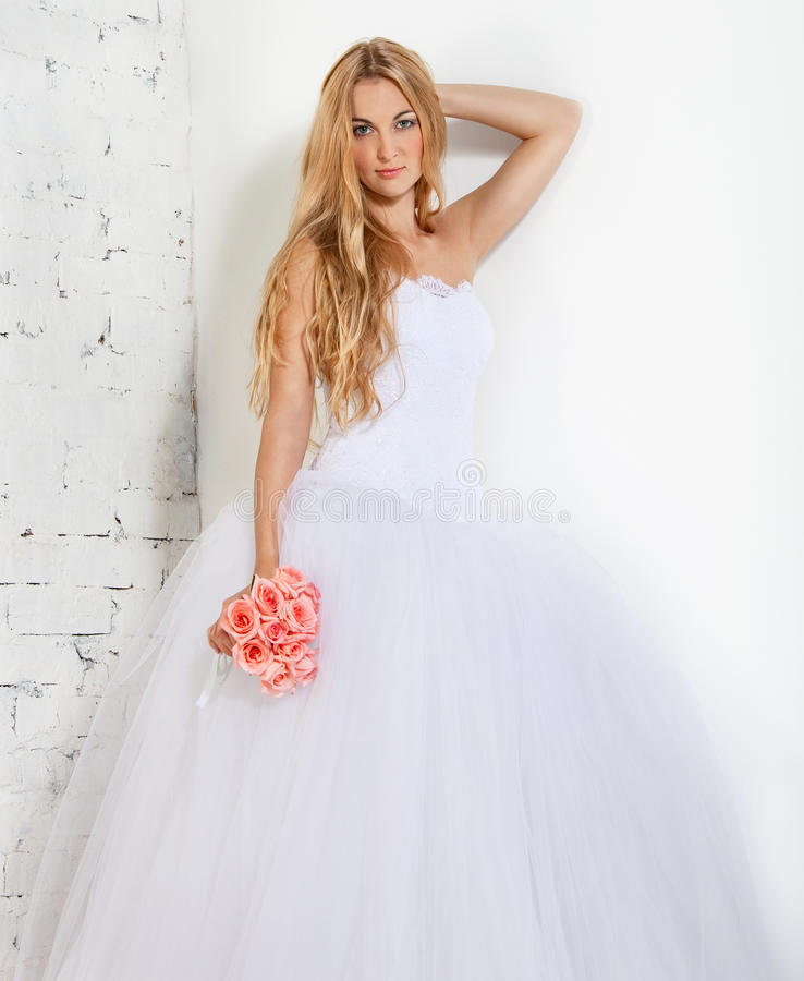 Download Portrait Of A Beautiful Blond Bride Stock Image - Image: 27618095