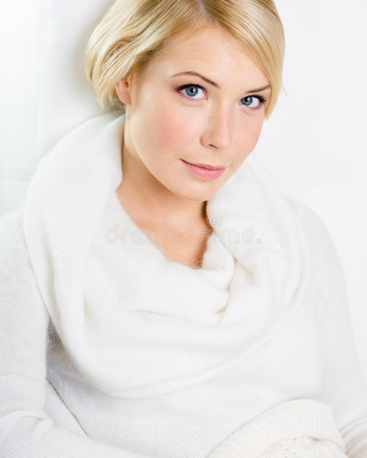 Download Portrait Of Beautiful Blond Woman Stock Image - Image: 28494985
