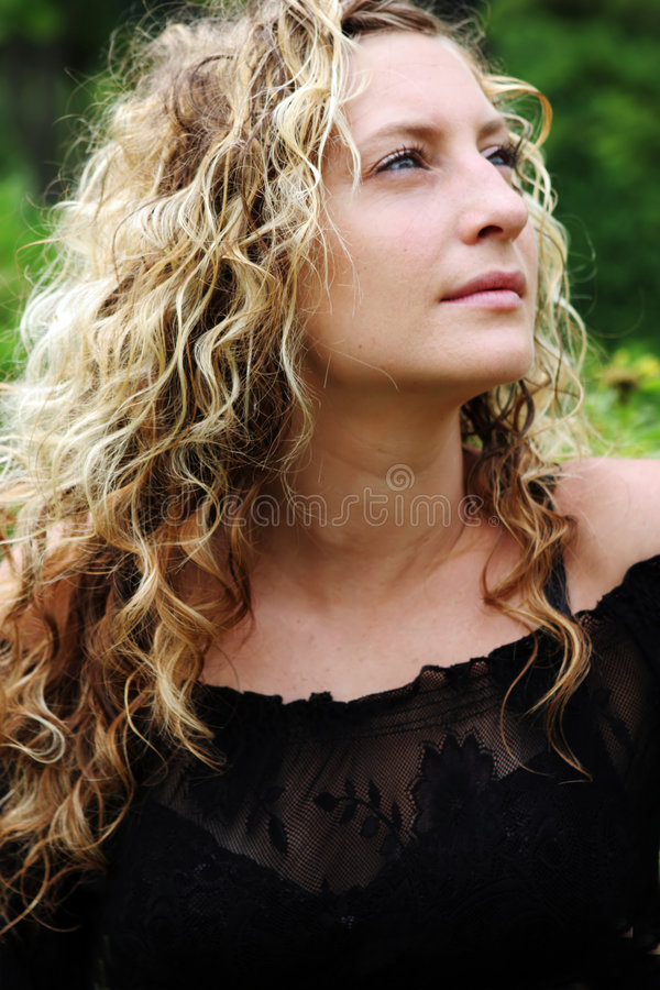 Download Portrait Of A Beautiful Blond Woman Stock Photo - Image: 915138
