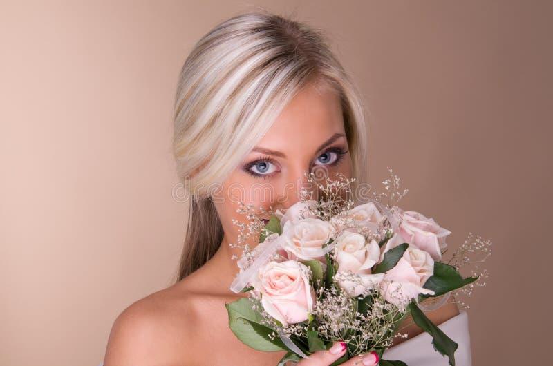 Download Portrait Of Beautiful Blonde Bride Stock Image - Image: 28025769