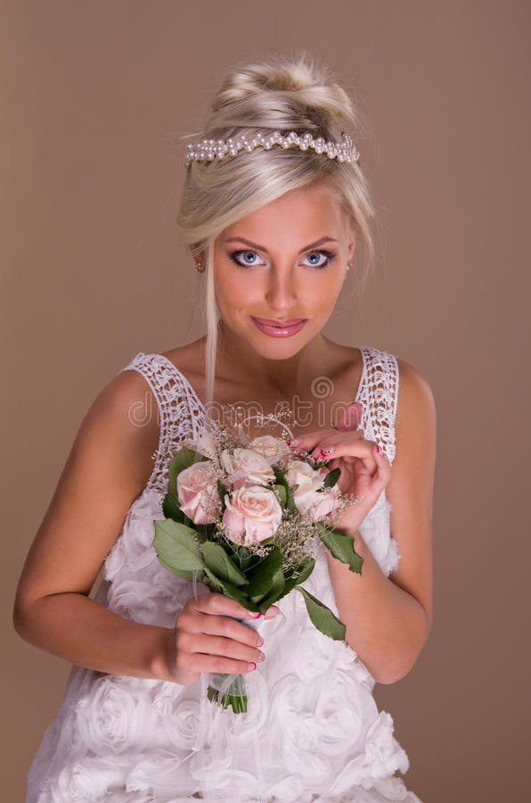 Download Portrait Of Beautiful Blonde Bride Stock Photo - Image: 28026004