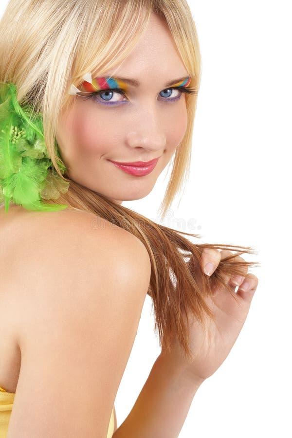 Download Portrait Of Beautiful Blonde Woman Stock Image - Image: 7204459