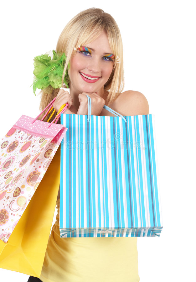 Portrait Of Beautiful Blonde Woman Stock Images