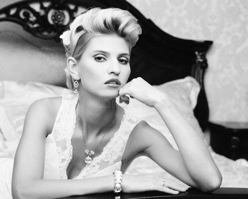 Download Portrait beautiful bride stock image. Image of elegance - 39697807