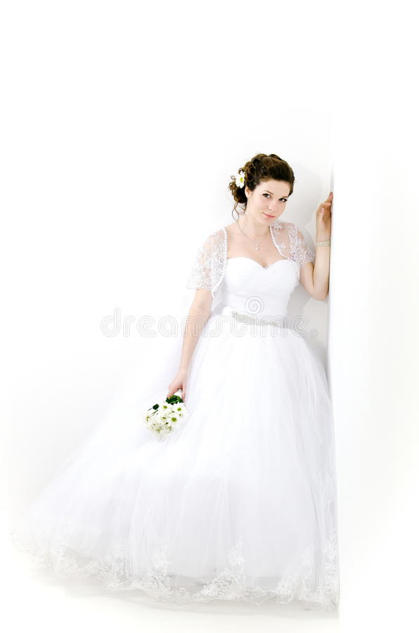 Portrait of beautiful bride. Wedding dress. royalty free stock photos