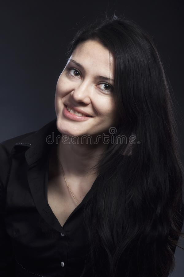 Portrait of beautiful brunette woman royalty free stock image
