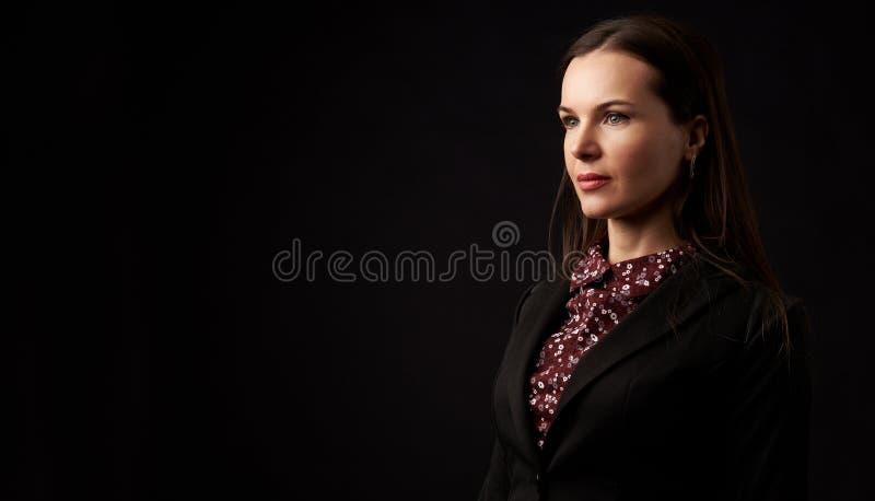 Beautiful Black hair woman portrait stock photo