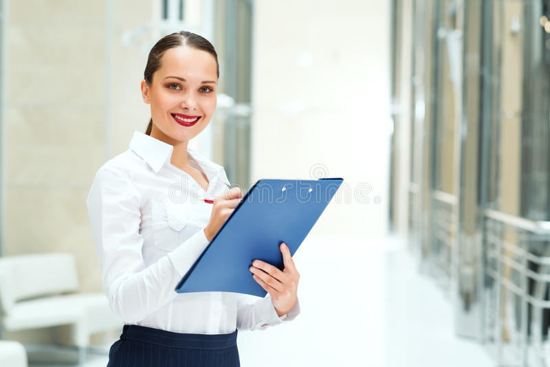 Download Portrait Of A Beautiful Business Woman Stock Image - Image: 28639845
