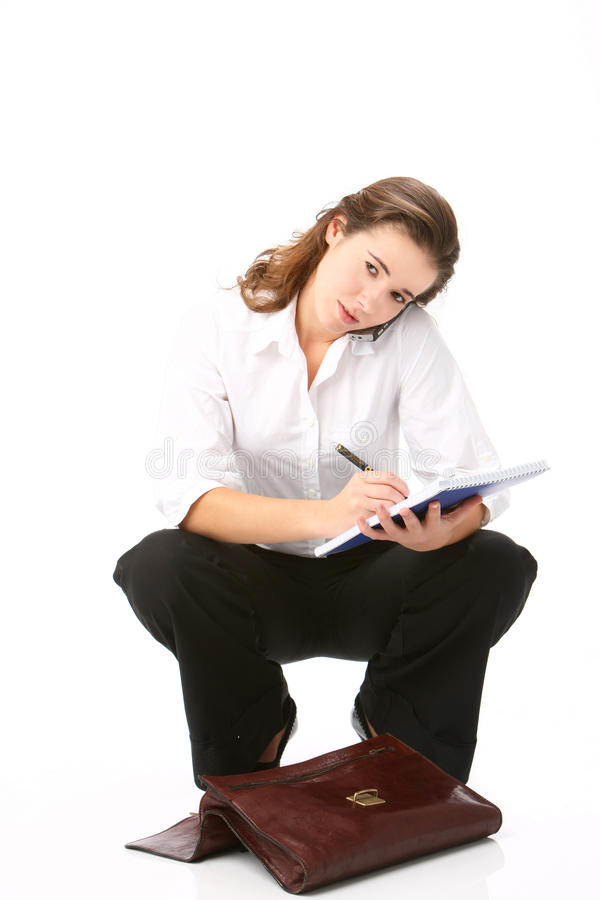 Portrait of beautiful business woman stock photo
