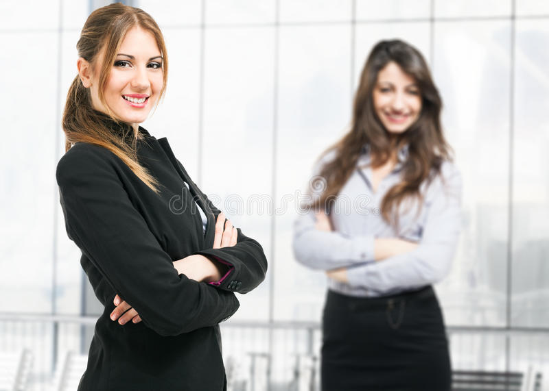 Beautiful businesswomen royalty free stock photography