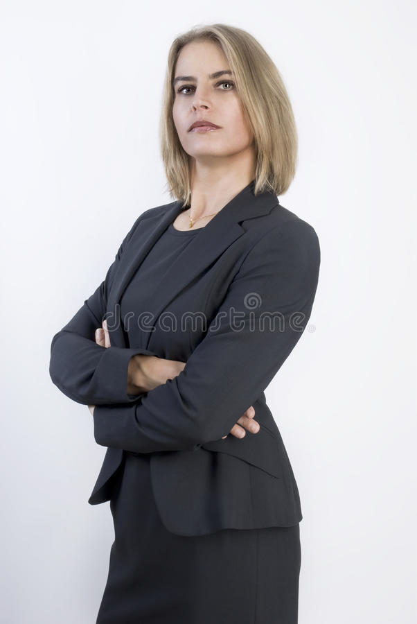 Portrait of a beautiful businesswoman royalty free stock images