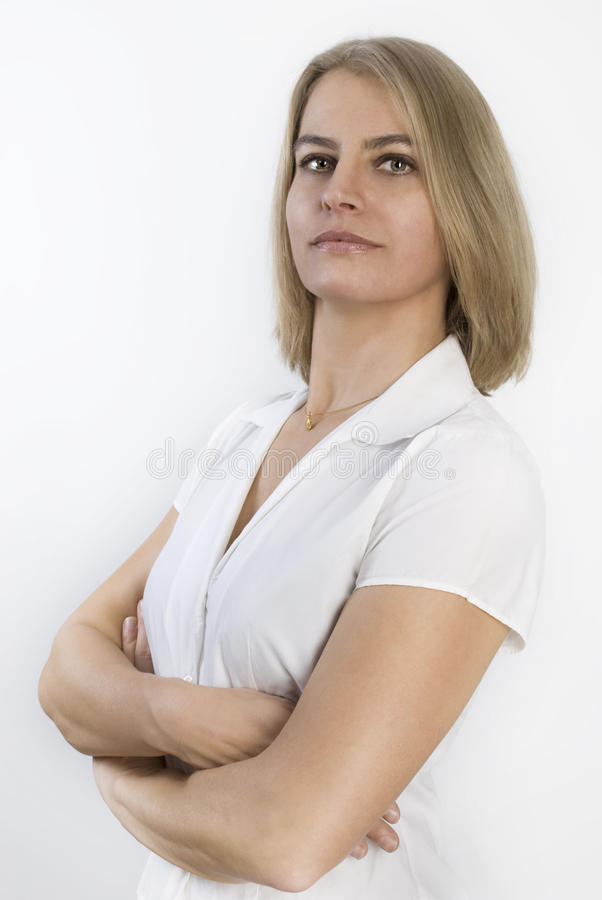Portrait of a beautiful businesswoman royalty free stock image