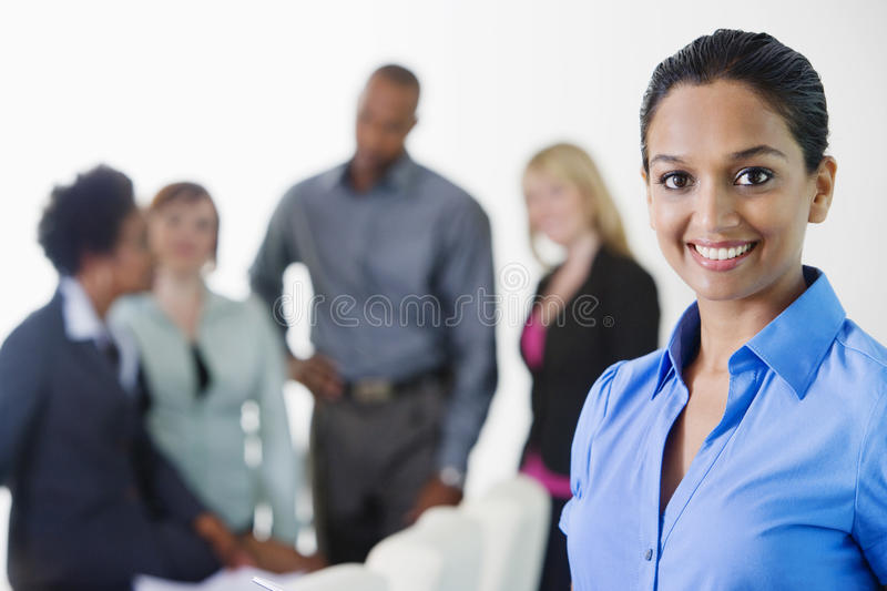 Portrait Of A Beautiful Businesswoman Smiling stock photography