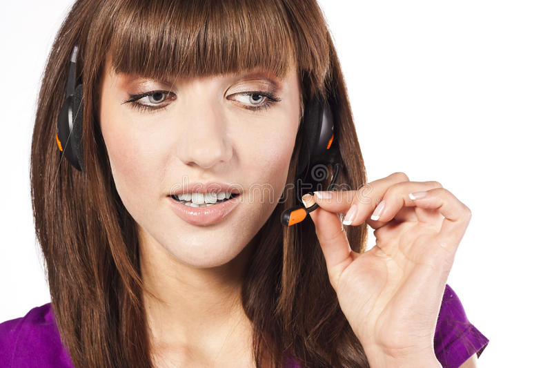 Download Portrait Of Beautiful, Call Centre Employee Stock Image - Image: 24548495