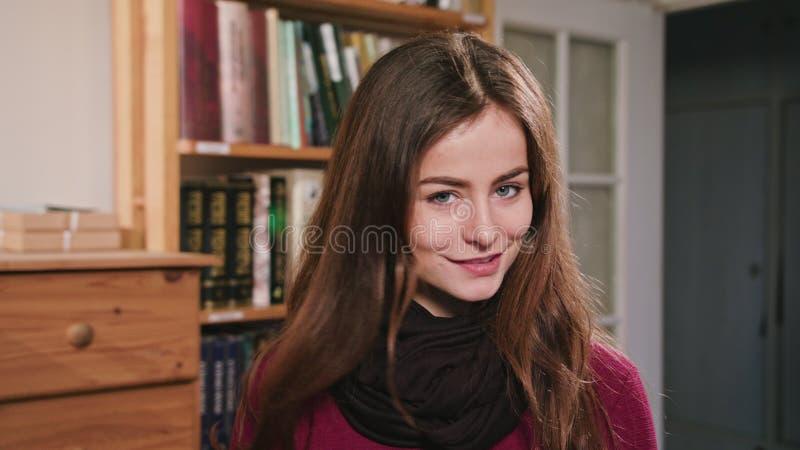 Portrait of Beautiful caucasian brunette woman stock photography