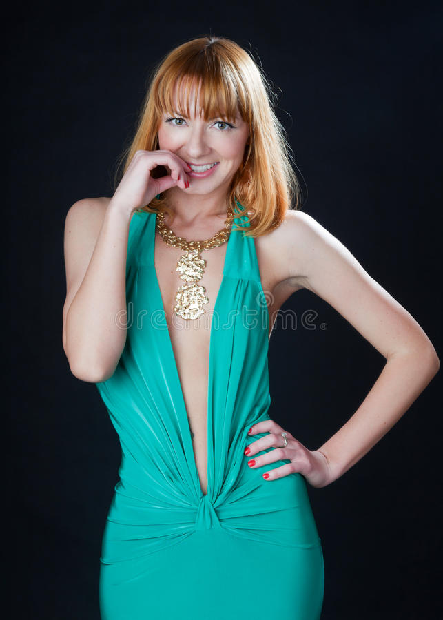 A portrait of a beautiful woman stock photography
