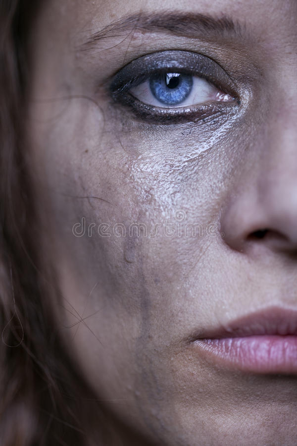 Download Portrait Of Beautiful Crying Girl Stock Photo - Image: 27825760