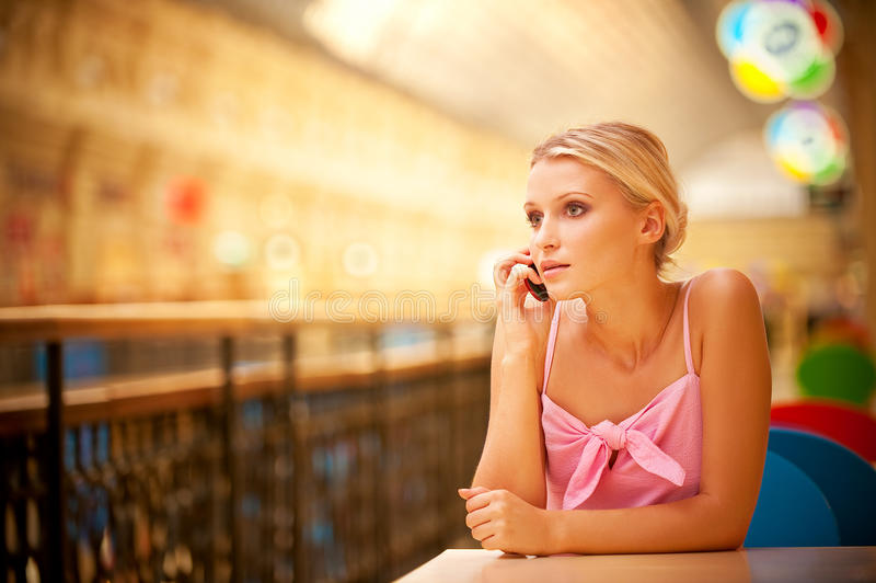 Download Portrait Of Beautiful Fair-haired Girl Stock Photo - Image: 10861952