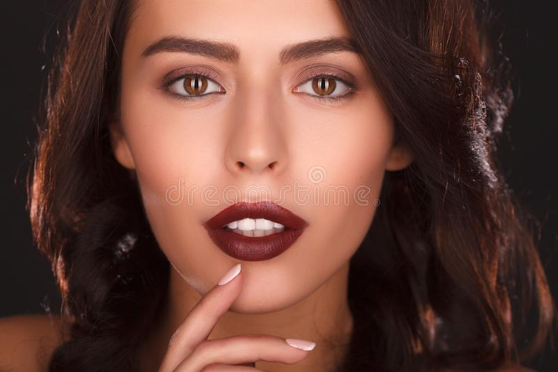 Portrait of beautiful female model royalty free stock photos