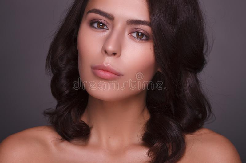 Portrait of beautiful female model royalty free stock photo