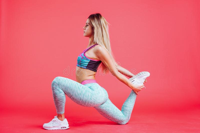 Portrait of a beautiful fitness woman royalty free stock photography