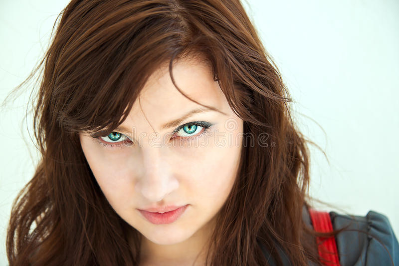 Portrait of a beautiful girl. royalty free stock photo