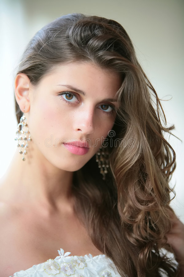 Download Portrait Of The Beautiful Girl Stock Image - Image: 5712585