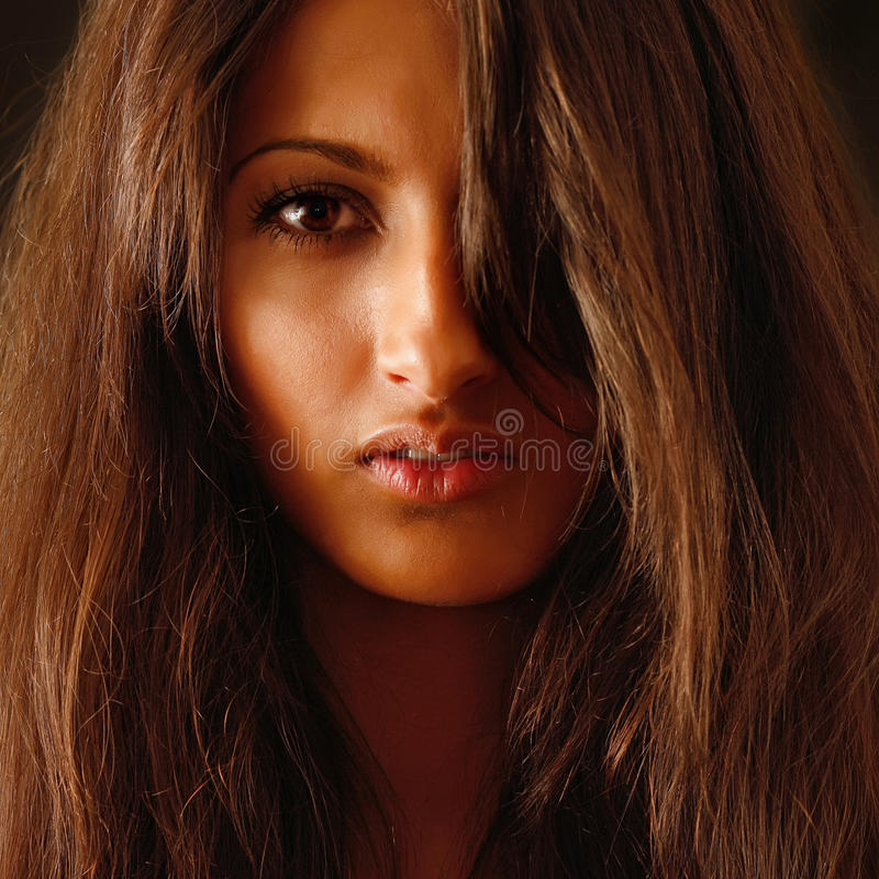 Portrait of the beautiful girl. royalty free stock photo