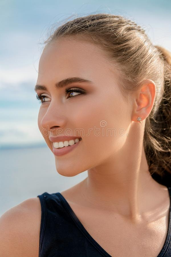 Portrait of a beautiful girl royalty free stock image