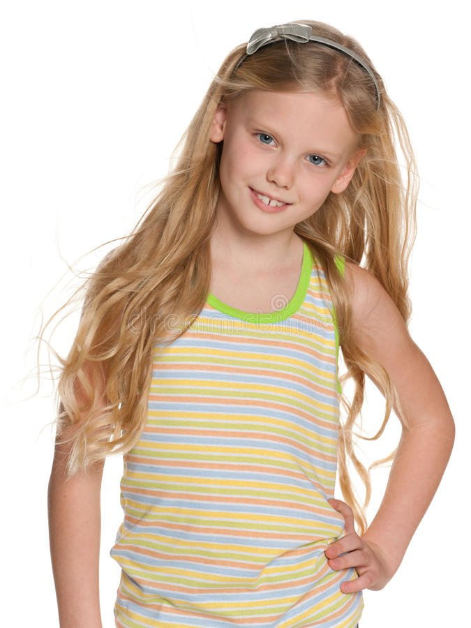 Download Portrait Of A Beautiful Girl With A Fluttering Hair Stock Image - Image: 29580741
