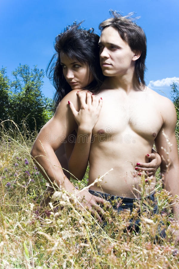 Portrait of beautiful girl and handsome man
