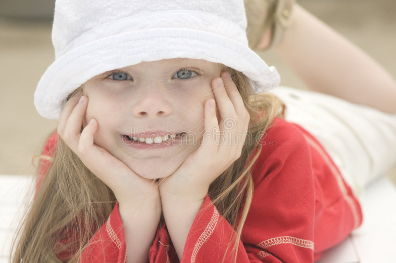 Download Portrait Of A Beautiful Girl In Hat Stock Photo - Image: 7043384