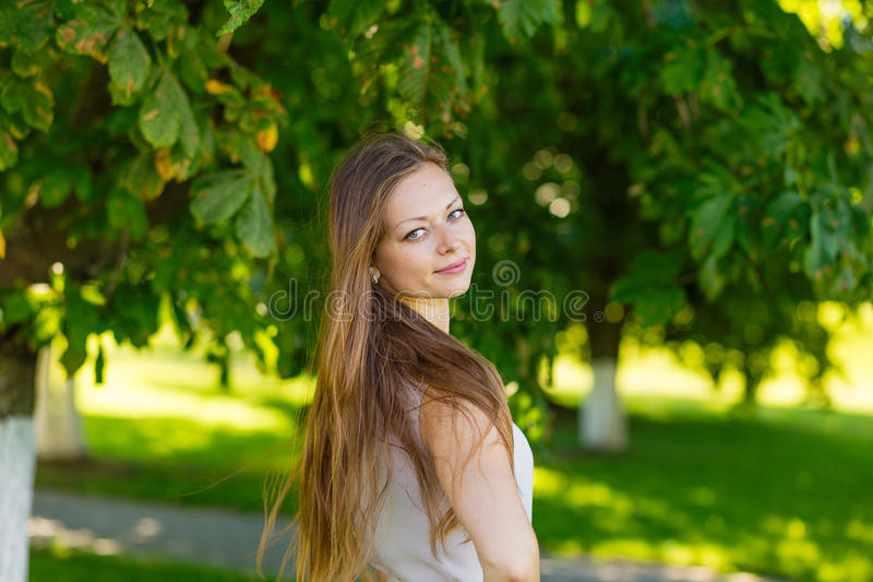 Download Portrait Of A Beautiful Girl With Long Blond Hair Stock Photo - Image: 83718609