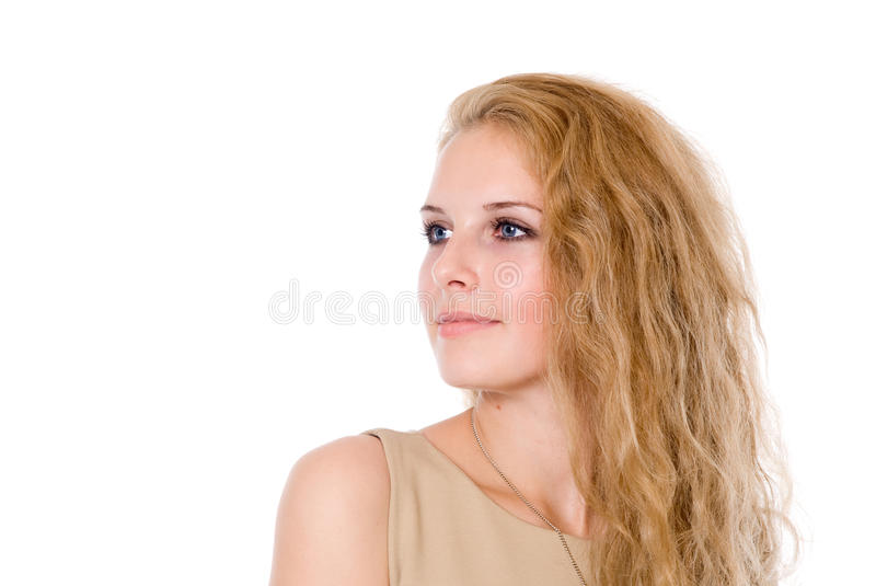 Download Portrait Of A Beautiful Girl Looking To The Side. Stock Photo - Image: 27368030