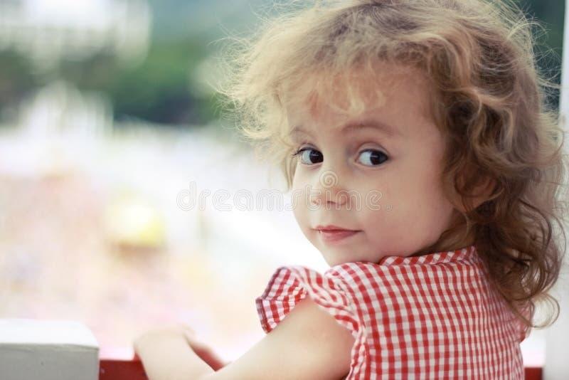 Portrait of beautiful girl outdoors. stock photos
