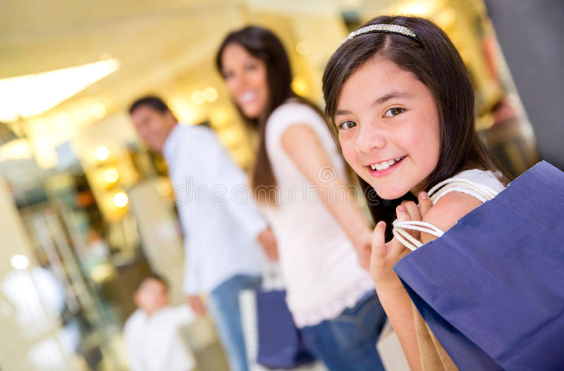 Download Family Shopping At The Mall Stock Photo - Image: 30042844