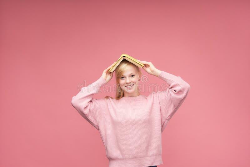 Attractive positive high school girl.back to school.teen girl stock image