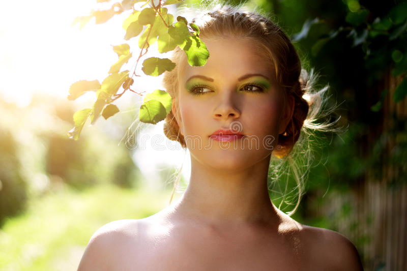 Download Portrait Of A Beautiful Girl With Summer Make-up Stock Photo - Image: 20798688