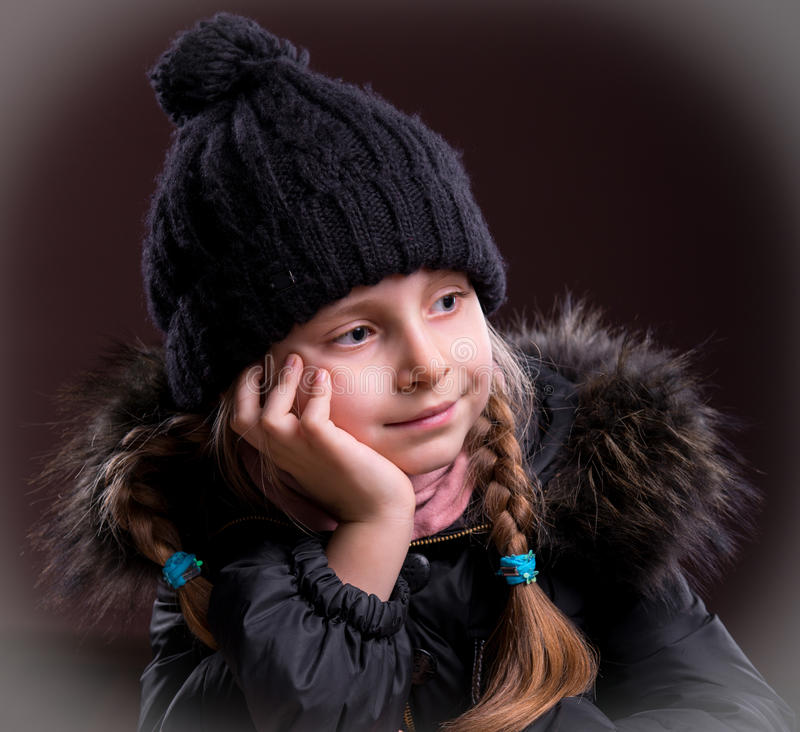 Download Portrait Of Beautiful Girl In Winter Cloth Royalty Free Stock Photos - Image: 29380408