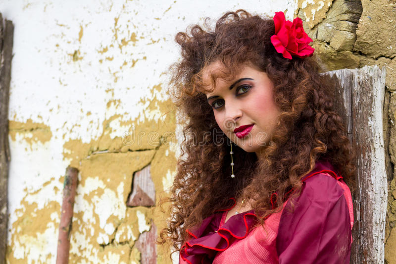 Portrait Of Beautiful Gypsy Woman Stock Photo - Image of ...