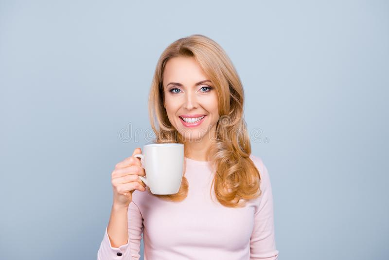 Portrait of beautiful happy adorable lovely attractive woman wit royalty free stock photos