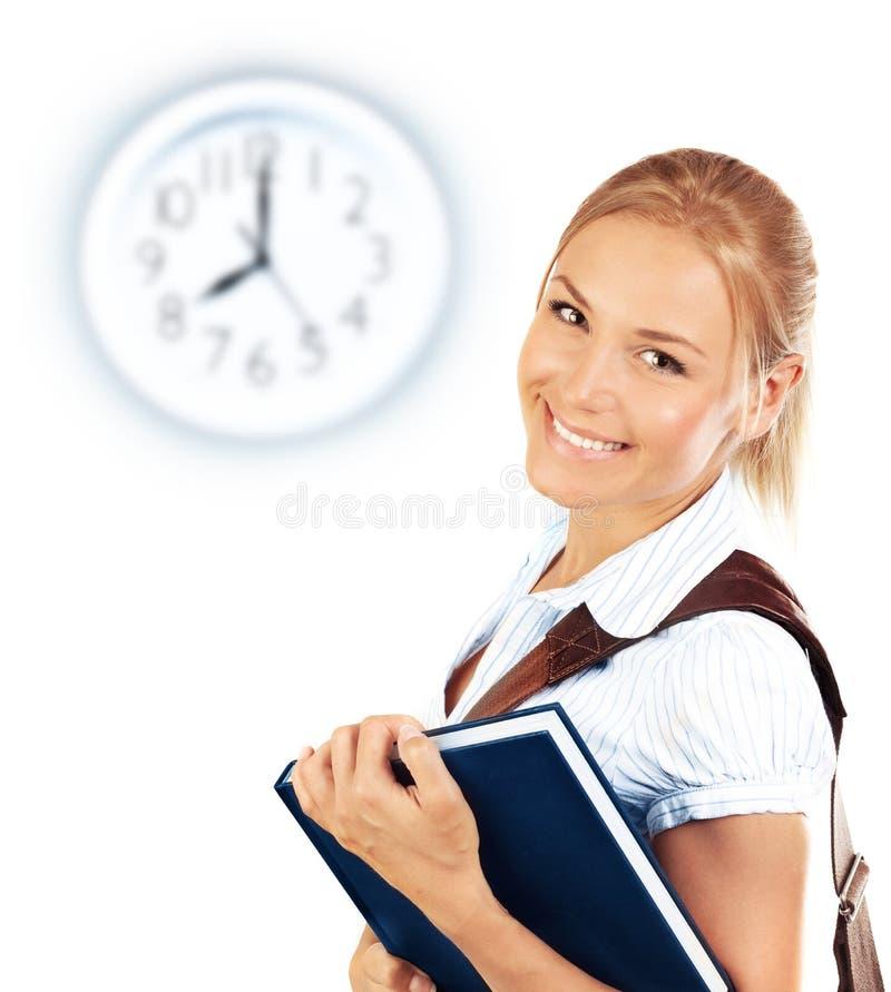 Portrait of beautiful happy student female stock photography