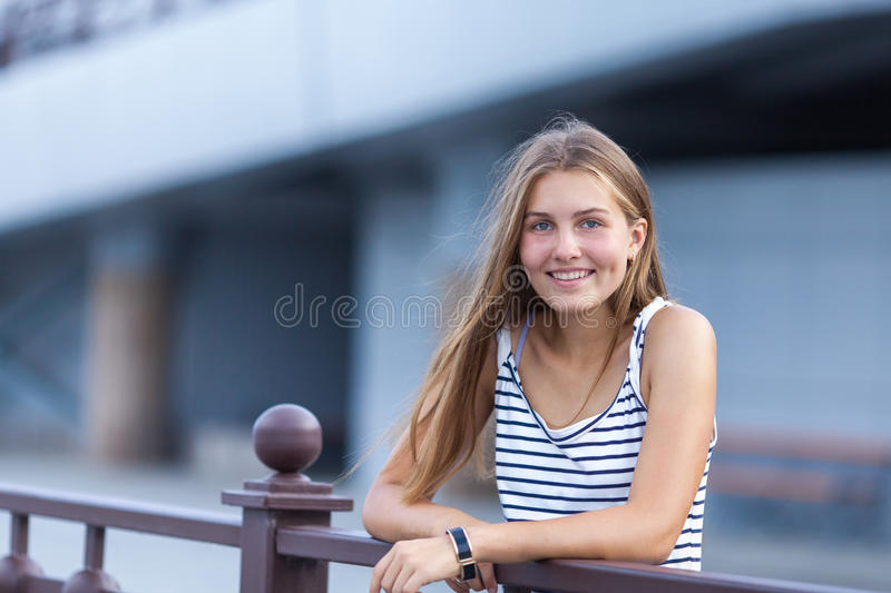 Portrait of Beautiful, happy young girl royalty free stock photo