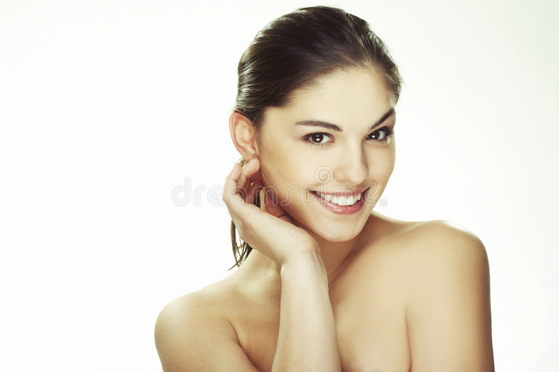 Download Portrait Of Beautiful Happy Young Woman Stock Image - Image: 7137307
