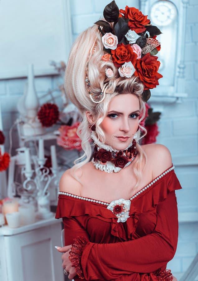 Portrait of a beautiful lady stock photo