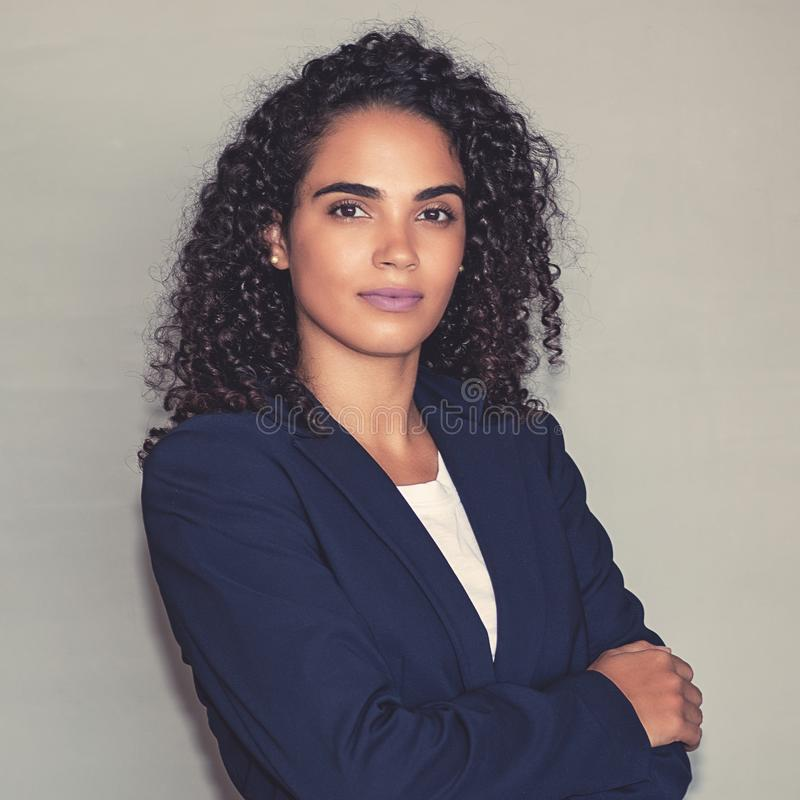 Portrait of a beautiful latin american businesswoman royalty free stock photography