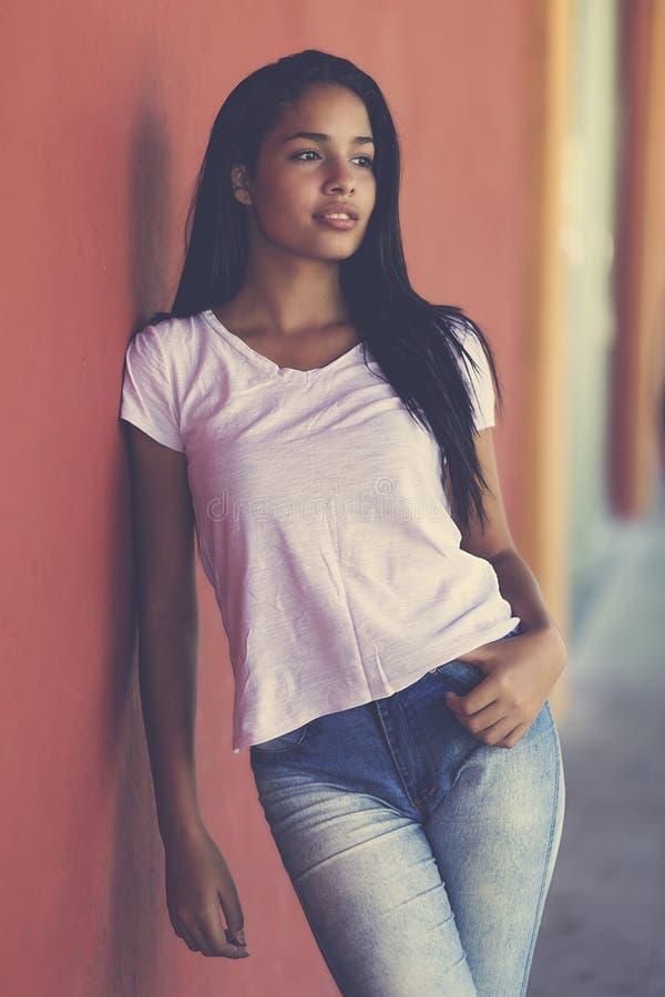 Portrait of a beautiful latin american teenage girl royalty free stock image
