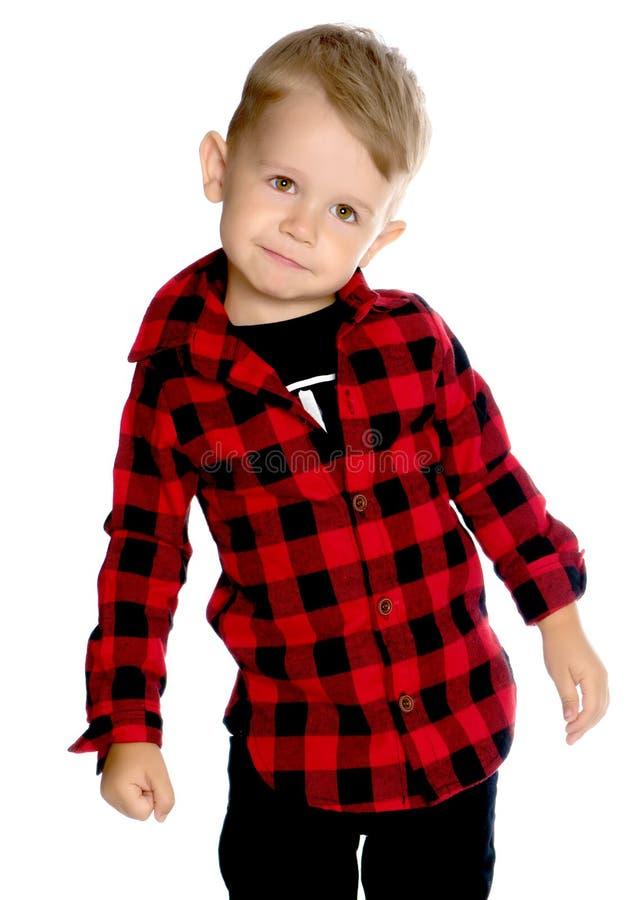 Portrait of a little boy close-up. stock photo
